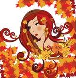 Autumn women, vector illustration Royalty Free Stock Photography