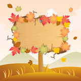 Autumn Wood Signage Royalty Free Stock Images