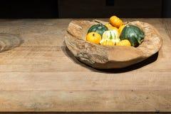 Autumn Wooden Bowl image libre de droits