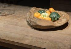 Autumn Wooden Bowl photographie stock
