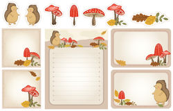 Autumn woodland stationery Royalty Free Stock Photos