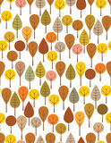 Autumn woods. Brown woods seamless pattern for kids royalty free illustration