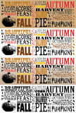 Autumn Word Art Collection-Facebook Timelines - Se royalty free stock photos