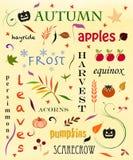 Autumn Word Cloud Lizenzfreie Stockbilder