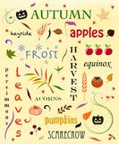 Autumn Word Cloud Royalty Free Stock Images