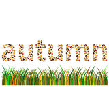 Autumn word little letters Royalty Free Stock Photo