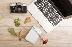 Autumn workplace Royalty Free Stock Images