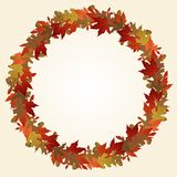 Autumn wreath Royalty Free Stock Image