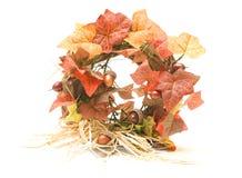 Autumn wreath. Isolated on white royalty free stock image