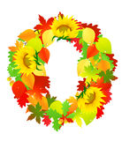 Autumn wreath, Royalty Free Stock Image