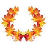 Autumn wreath Stock Photos