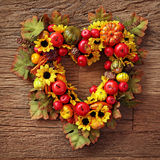 Autumn wreath Stock Photos