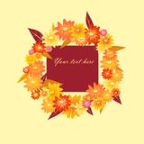 Autumn Wreath Arkivbild