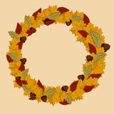Autumn Wreath Ilustración del Vector