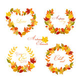 Autumn Wreath - Banners and Tags Royalty Free Stock Photo