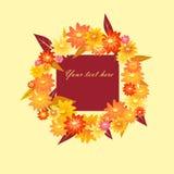 Autumn wreath Stock Photography