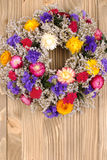 Autumn wreath with dried flowers Stock Photography