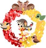 An autumn wreath Royalty Free Stock Photos