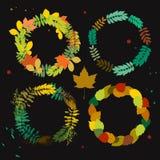 Autumn wreath set Stock Image