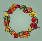 Autumn wreath Royalty Free Stock Photo