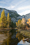 Autumn in Yosemite. Afternoon sun falls across a small stream in Yosemite National Park stock photography