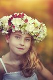 Autumn young blonde girl Stock Images