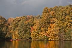 Autumn at Zabreb's lake Stock Photography