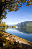 Autumn in Zell am See Royalty Free Stock Image