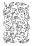 Autumn zentangle royalty free illustration