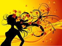 Autumna_ haircut. Autumnal haircut, vector illustration, AI file included Royalty Free Stock Photo