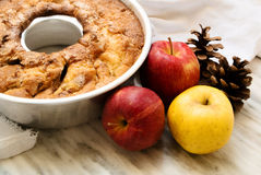 Autumnal apple pie Royalty Free Stock Photography
