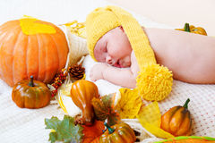 Autumnal baby Royalty Free Stock Photos