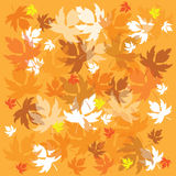 Autumnal background. Illustration of autumnal background with falling leaves Royalty Free Stock Image