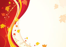 Autumnal background vector illustration