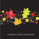 Autumnal background on black Royalty Free Stock Image