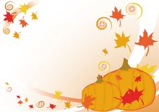 Autumnal background with leaves Royalty Free Stock Photos