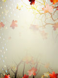 Autumnal Background with maple leaves. EPS 10 Stock Image