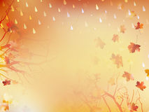 Autumnal Background with maple leaves. EPS 10 Stock Images