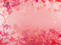 Autumnal Background with maple leaves. EPS 10 Stock Photo