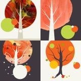 Autumnal Background Set Stock Image