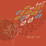 Autumnal banner Royalty Free Stock Photo