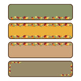 Autumn banners. Set of four autumn banners isolated on white background.EPS file available Stock Photos