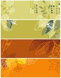 Autumnal banners collection Royalty Free Stock Images