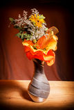 An autumnal bouquet, with dried flowers, Stock Image