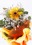 An autumnal bouquet, with dried sunflowers, Royalty Free Stock Photo