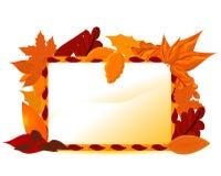 Autumnal card Stock Image