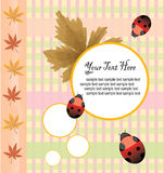 Autumnal card design Stock Photos