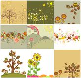 Autumnal cards Royalty Free Stock Images