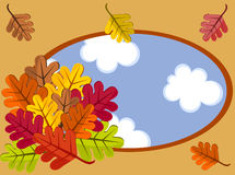 Autumnal cartoon landscape Royalty Free Stock Images