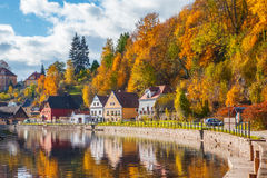 Autumnal Cesky Krumlov Stock Photos